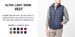 uniqlo ultra light down vest uniqlo change the way you think about winter discover ultra light