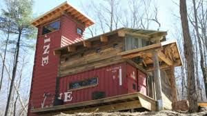 shipping container house in woods youtube