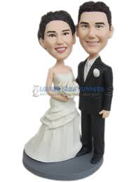 cake toppers bobblehead personalized bobblehead wedding cake toppers casadebormela