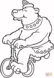 bear takes a ride coloring page free printable coloring pages