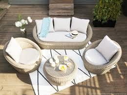 delamaison canapé salon de jardin bas 5 places portefino ermanno g canapé 3 places