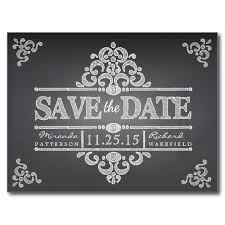 Wedding Postcards Elegant Chalkboard Save The Date Wedding Postcard Elegant