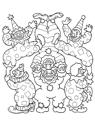 clown coloring pages coloring pages to print