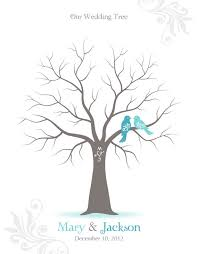 tree signing for wedding fingerprint wedding tree guest book poster with ink idealpin