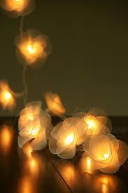 ebay led string lights 20 cream nylon rose flower led string fairy lights lanterns wedding
