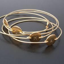 monogram bracelet gold personalized bracelet custom initial bangle bracelet gold