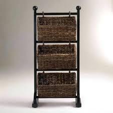 White Wicker Bathroom Storage Wicker Bathroom Storage And Wooden Storage With Baskets