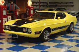 Yellow Mustang With Black Stripes 1973 Ford Mustang Mach 1 U2013 Yellow Black U2013 A U0026e Classic Cars