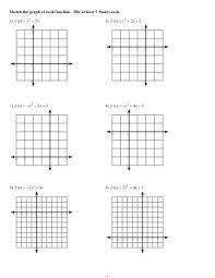 graphing parabola worksheet worksheets