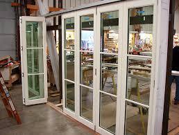 Glass Bifold Doors Exterior Folding Patio Doors Exterior Riviera Doorwalls With Regard To