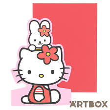 buy sanrio hello kitty bunny die cut stand up greeting card at artbox