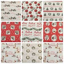 Amazon Uk Gift Wrap - christmas tradional gift wrapping paper 20 sheets folded https