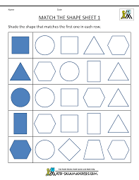 free printable geometry worksheets match the shapes 1 μαθηματικά