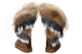 womens ugg boots lowest price ugg fox wool 8686 chestnut ankle boots complete in