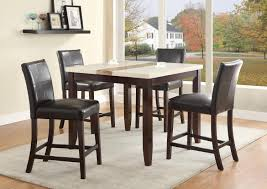crown mark larissa 5 piece counter height table set with