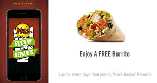 moe u0027s southwest grill free burrito when you download new app