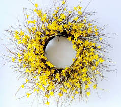forsythia wreath wreath winter