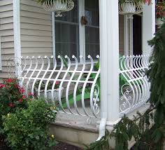 porch banister wrought iron railings pipe railing south jersey custom hand