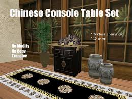 Chinese Home Decor Second Life Marketplace Chinese Console Table Set Living Room