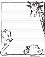 printable animal lined paper please enjoy this free zoo animal writing paper teaching
