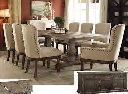 dining room sets for 8 complete dining room set landon 8 in salvage brown finish by