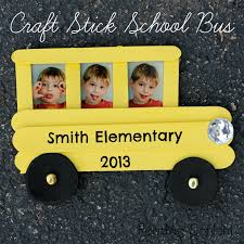 this craft stick bus frame is easy for kids to make and a