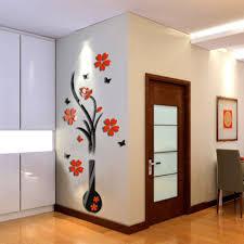 2016 modern retro home room tv decor vase plum flower tree crystal