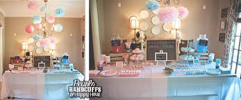 gender reveal party decorations pearls handcuffs and happy hour gender reveal party