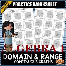 domain and range continuous graphs practice worksheet 1 example