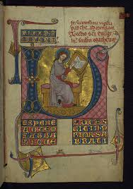 parchment and pixel homilary portrait of the evangelist matthew