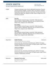 Microsoft Resume Templates 2010 Free Download Resume Templates For Microsoft Word 2010 Resume