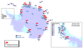map of antarctic stations landsat image mosaic of antarctica lima
