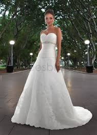 sweetheart neckline wedding dress kaylees bridal organza a line strapless sweetheart neckline