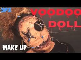 voodoo doll makeup tutorial halloween sfx youtube