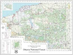 Map Of Ottawa Ottawa National Forest Maplets