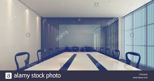 interior of a modern corporate conference room with stylish