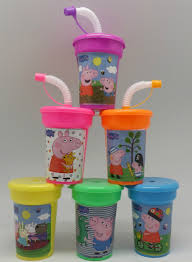favor cups 6 peppa pig stickers birthday sipper cups with lids party favor