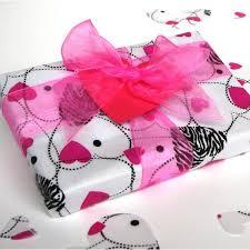 zebra tissue paper hearts printed tissue paper 20 x 30 sheets