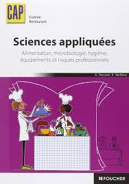 livre de cuisine cap sciences appliquées cap amazon fr antoinette paccard khadija