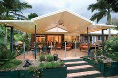 Pergola Roofing Ideas by Gable Roof Pergola Colorbond Polycarbonate Roof Merbau Deck