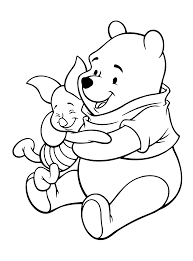 winnie the pooh with piglet coloring pages coloring pages for kids