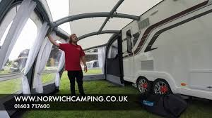 New Caravan Awnings Kampa Frontier Air Pro Caravan Awning 2017 Youtube