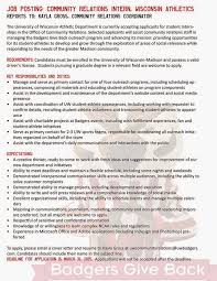 community relations cover letter public relations officer cover