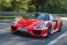 electric porsche supercar mark webber takes delivery of porsche 918 spyder