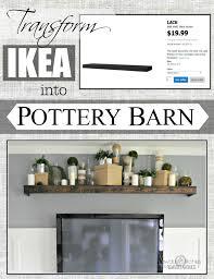 Ikea Photo Ledge Remodelaholic Turn An Ikea Shelf Into A Pottery Barn Ledge