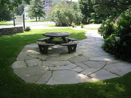 Patio Flagstone Designs Broken Flagstone Patio Design
