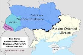 Ukraine On World Map by Ukrainian Regionalism And The Federal Option Geocurrents