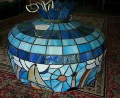 tiffany glass pendant lights tiffany style stained glass nautical hanging lamp fixture u0026 shade