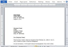 view resignation letter resignation letter format view free