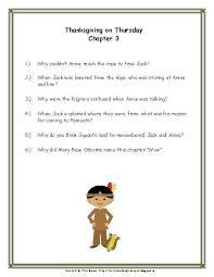magic tree house 27 thanksgiving on thursday novel study
